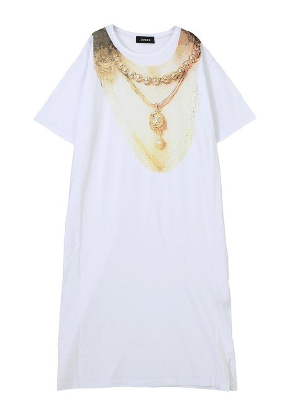 コラージュプリント Tシャツ 白