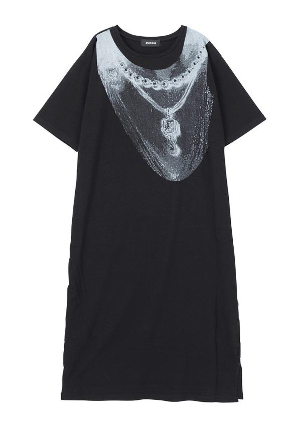 コラージュプリント Tシャツ 黒
