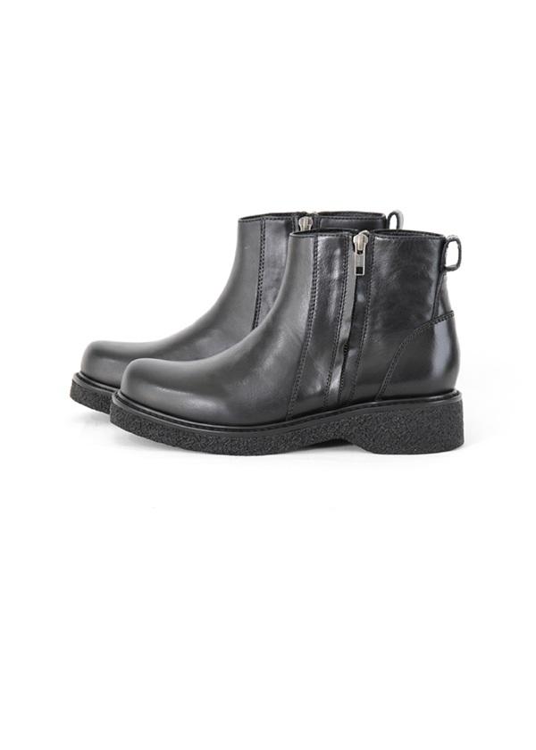 サイドジップブーツ 黒