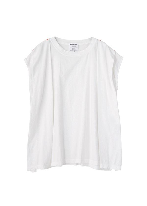 ZUCCa / (D)タックTシャツ / カットソー 白