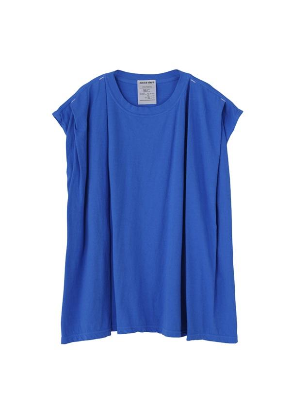 ZUCCa / (D)タックTシャツ / カットソー ブルー