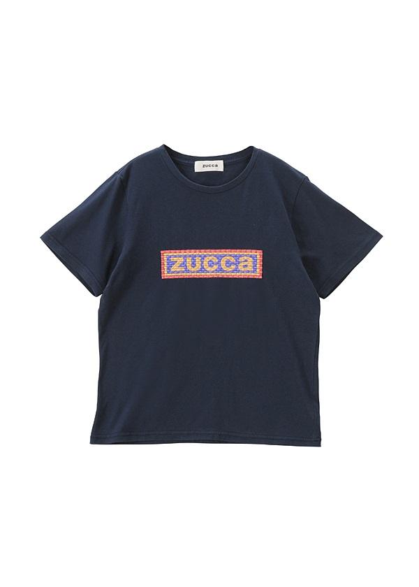 ZUCCa / 【限定】 エンブロイダリーロゴTシャツ / Tシャツ ネイビー