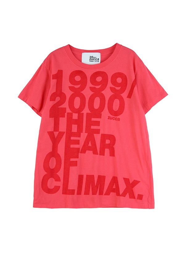 THE YEAR OF CLIMAX / Tシャツ 朱赤
