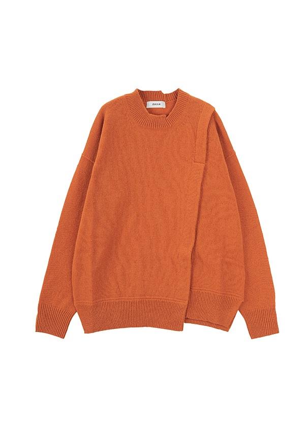 ラムウールセーター / セーター オレンジ / レンガ