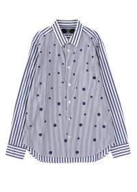 ZUCCa / メンズ ドットストライプブロード / シャツ