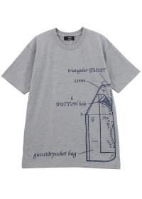 ZUCCa / メンズ ポケットプリントTシャツ / Tシャツ