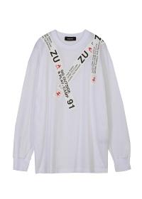 ZUCCa / テーププリントTシャツ / カットソー