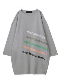メルシーボークー、 / 【WEB限定】 B:メルロゴ裏毛 / ワンピース