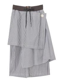 メルシーボークー、 / ピラっと縞布 / スカート