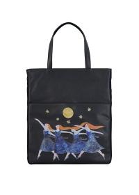 <先行予約> 夜の森のダンス革小物 / トートバッグ