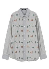 <先行予約> メンズ くまと木の実シャツ