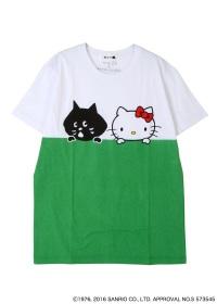 にゃー / S メンズ にゃーとHELLO KITTY T / Tシャツ