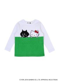 にゃー / S キッズ にゃーとHELLO KITTY T / Tシャツ