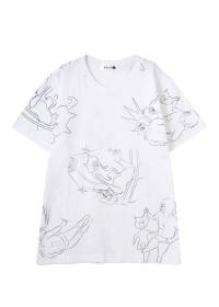にゃー / メンズ 【別注】総柄にゃーまん T / Tシャツ