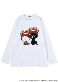 にゃー / S メンズ (L)クリスマスにゃーとHELLO KITTY T / Tシャツ