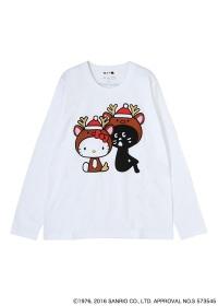 にゃー / S (L)クリスマスにゃーとHELLO KITTY T / Tシャツ