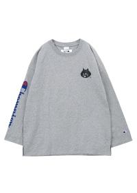 にゃー / メンズ にゃーとチャンピオンのロングTシャツ / カットソー