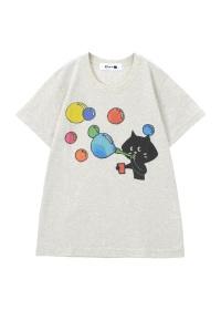 にゃー / からふるしゃぼんにゃー T / Tシャツ