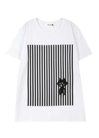 にゃー / メンズ ストライプにゃー T / Tシャツ