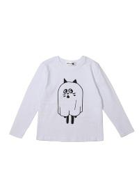 にゃー / S キッズ おばけにゃー T / Tシャツ