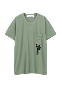 にゃー / ぶらさがりにゃーポケT / Tシャツ