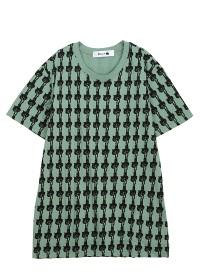 にゃー / メンズ 総柄ぶらさがりにゃーT / Tシャツ