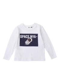 にゃー / S キッズ スペースにゃー T / Tシャツ
