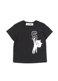 にゃー / キッズ アルファベットにゃー T / Tシャツ