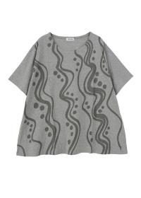 Plantation L-line / S ウェーブドットプリントT / Tシャツ