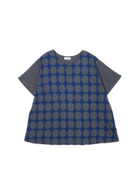 Plantation / S ドット型プリント-T �U / Tシャツ