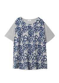 Plantation L-line / ドローフラワープリント-T / Tシャツ