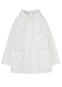 S cotton nylon hooded blouson