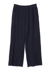 S flannel wide easy pants
