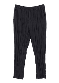 S stripe double cloth easy pants