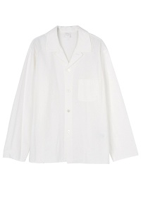 S soft oxford open collar shirts