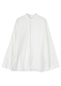 S cotton dobby stand collar shirts