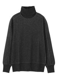 S wooly thermal turtre neck