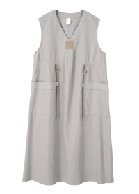 linen/cotton cord one piece