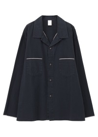 S salvage open collar shirts