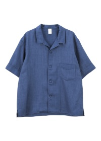 S PE linen open collar shirts