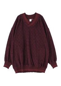S Pile jacquard pullover