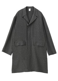 S ONE BUTTON FLY FRONT COAT