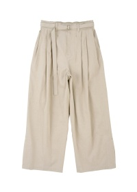 S 3 TUCK WIDE PANTS