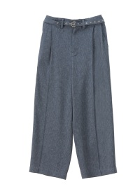 S 2 TUCK WIDE STRAIGHT PANTS