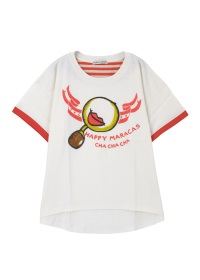 TSUMORI CHISATO / ハッピーマラカスT / Tシャツ