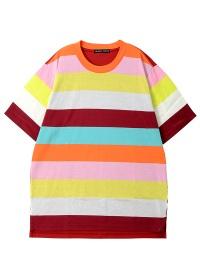 TSUMORI CHISATO / メンズ マルチボーダーT / Tシャツ