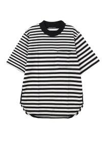 TSUMORI CHISATO / S メンズ ボーダーワッペンT / Tシャツ