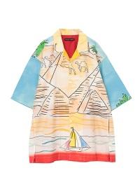TSUMORI CHISATO / メンズ らくだランドスケープシャツ / ブラウス