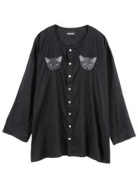 ZUCCa / e.m. cat shirt / �u���E�X