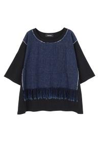 ZUCCa / S フリンジデニムジャージィー / Tシャツ
